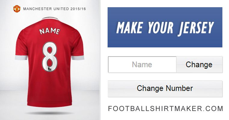 brand new b489e c8b8a Personalized Manchester United jersey. Customize your own ...