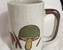 Vintage Stoneware Mushroom Mug Japan/ Otagiri Style/ By Gatormom13