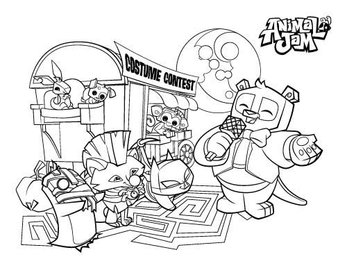 animal jam coloring pages the daily explorer - Animal Jam Coloring Pages