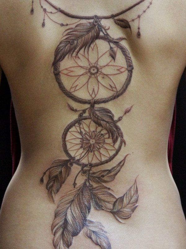 82722543e The 60 Most Popular Dreamcatcher Tattoos Of All Time | Bodhi tree ...