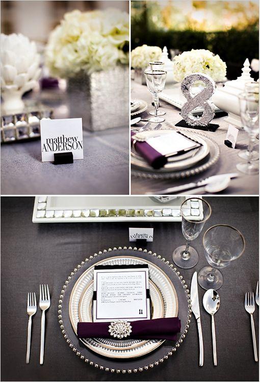 Table Setting Frame Centre Piece Elegant Wedding Colors