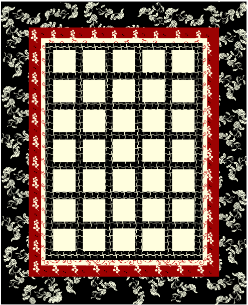 Pattern Idea For Photo Quilt. Can Add Photos And
