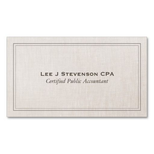 Accountant cpa professional simple classic double sided standard accountant cpa professional simple classic double sided standard business cards pack of this great business card design is available for customization colourmoves Image collections