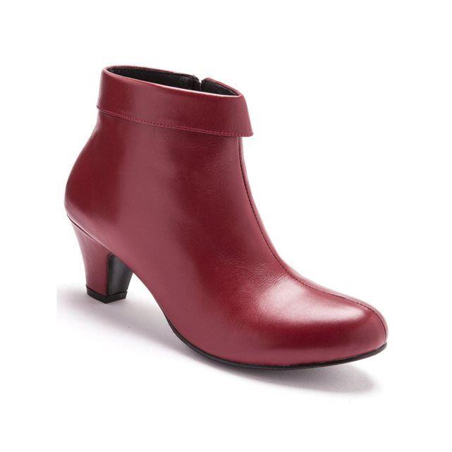 Boots à revers en cuir Pediconfort | La Redoute