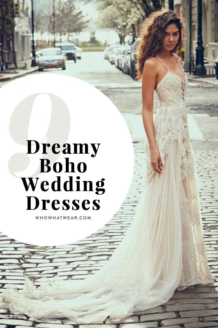 These pretty wedding dresses are a bohemian dream weddings