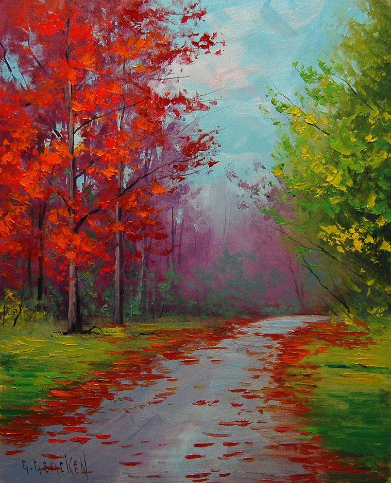 Autumn Colors Landscape Artist Landscape Paintings Fine Art Painting Oil