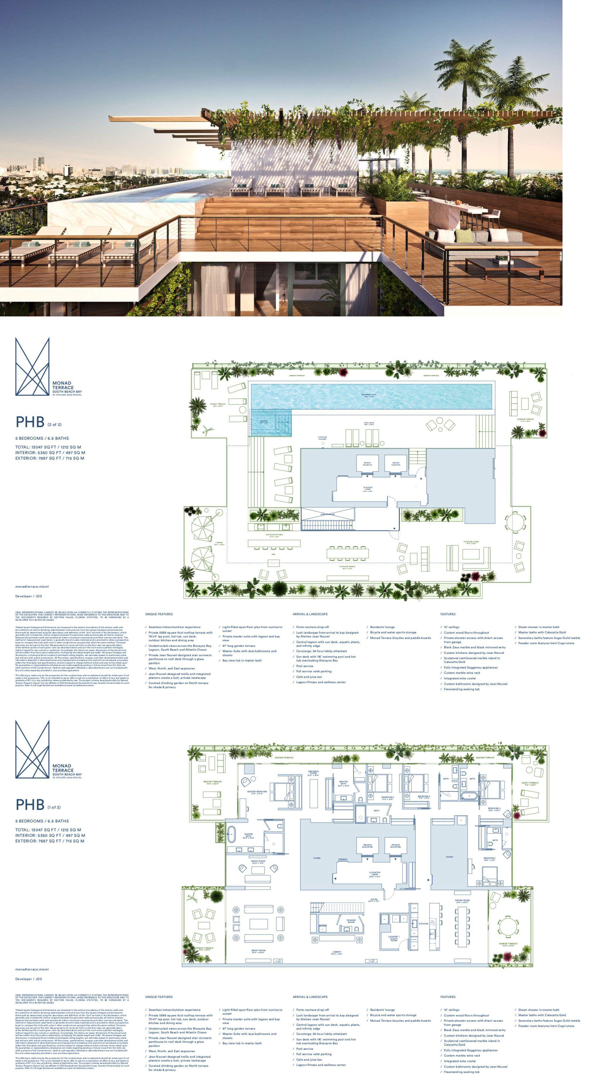 Monad Terrace Luxury Condos For Sale In Miami South Beach Beach House Floor Plans Mansion Floor Plan Architectural Floor Plans
