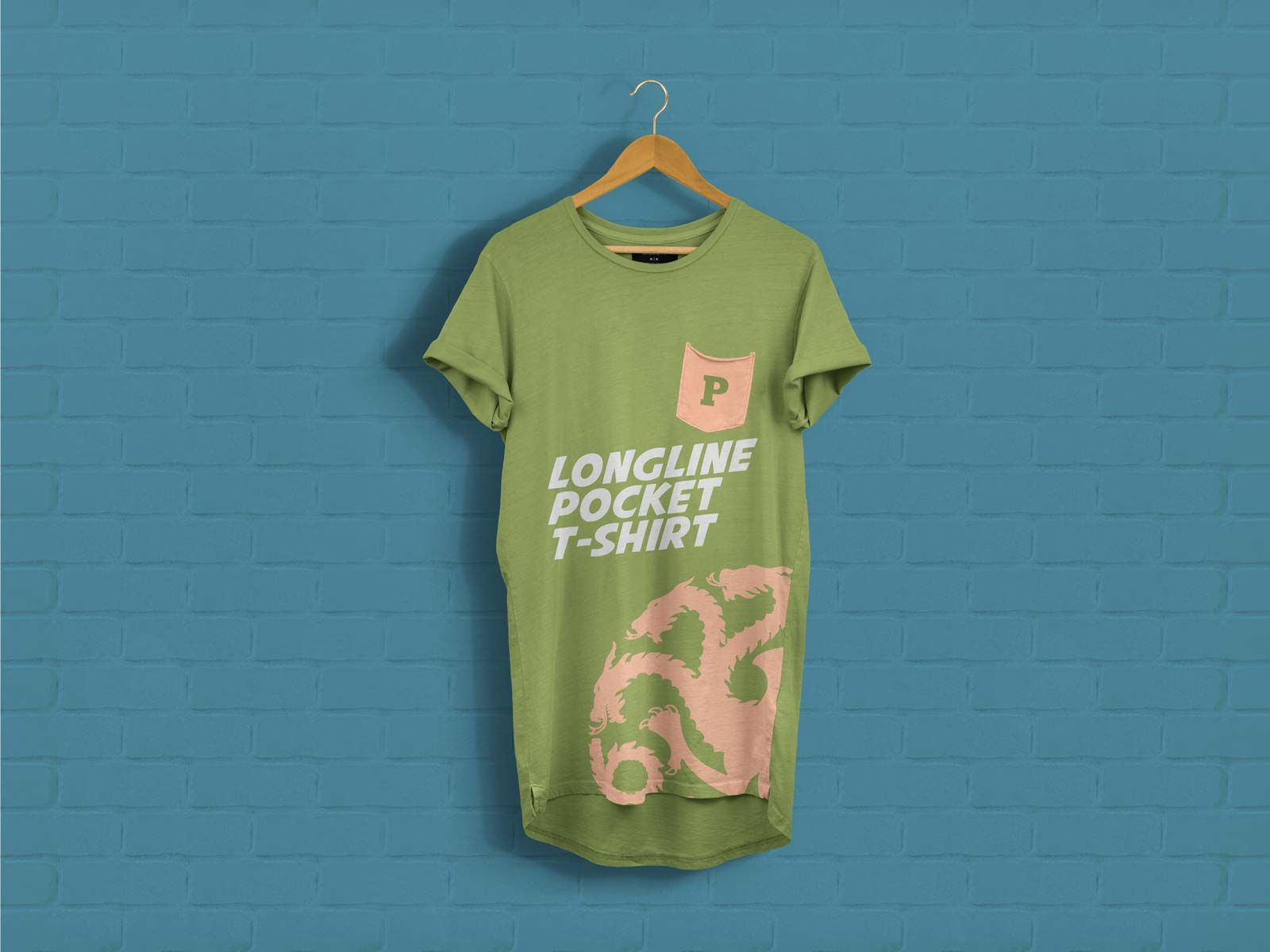 Download Short Sleeves Longline Pocket T Shirt Mockup Psd Shirt Mockup Pocket Tshirt Tshirt Mockup