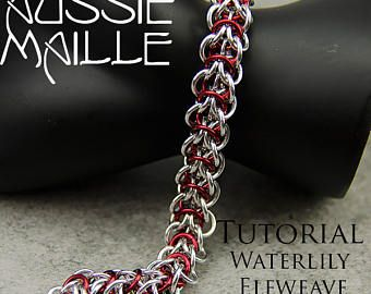Chain Maille Tutorial - Water Lily Elfweave Bracelet