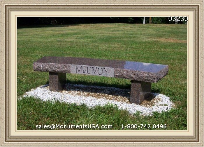 Memorial Benches For Gardens | Stone Garden Memorial Bench