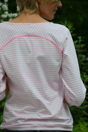 b63eabeb7b34 Freebook Bethioua Schnittmuster für ein Damen Raglanshirt. Das Shirt ist  sehr einfach zu nähen. Du erhältst den Schnitt in der Größe S M gratis per  Mail.