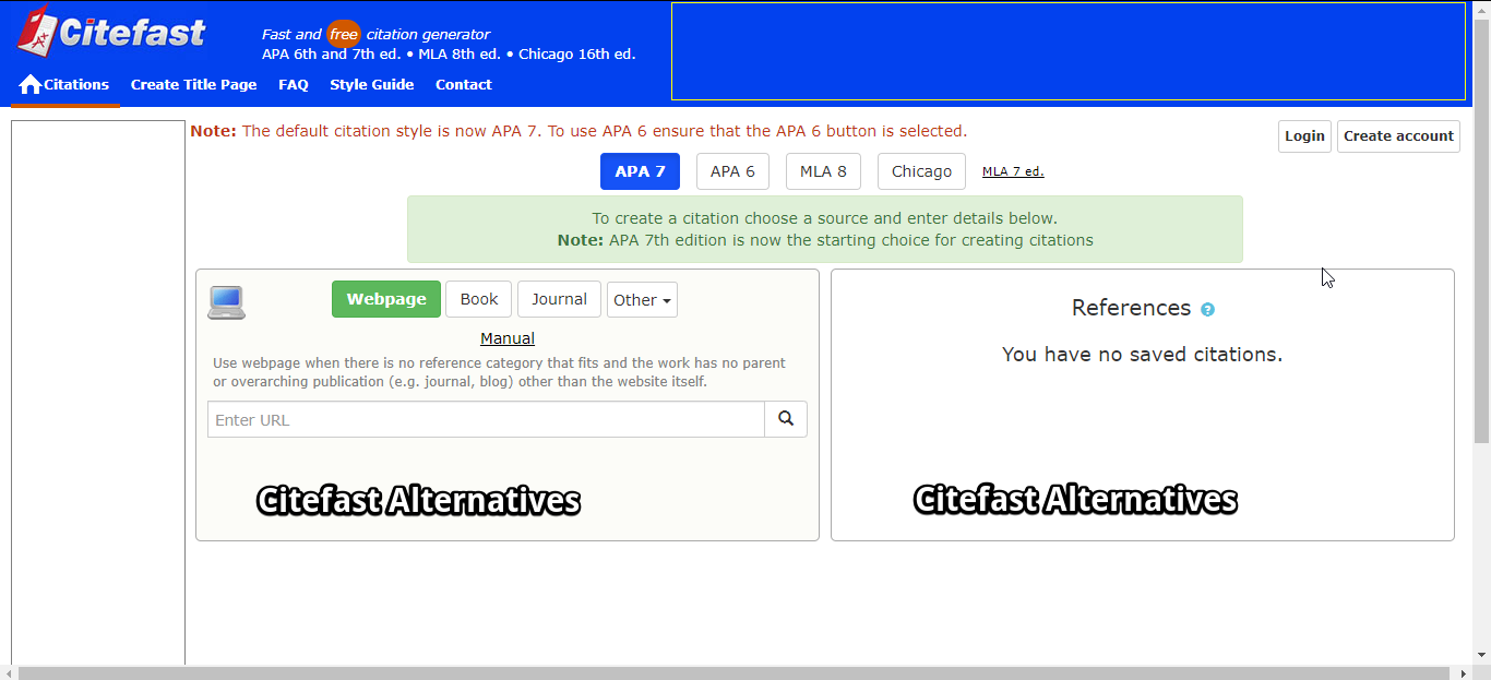 Citefast Alternatives In 2020 Academic Writing Citation Maker Writing Styles