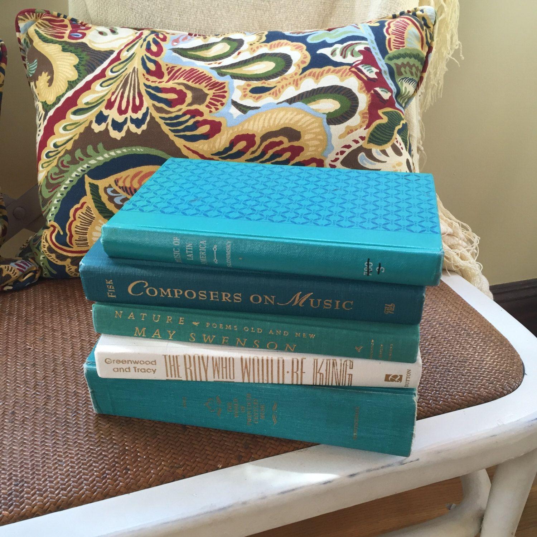 Beach house decor teal books books decor books home
