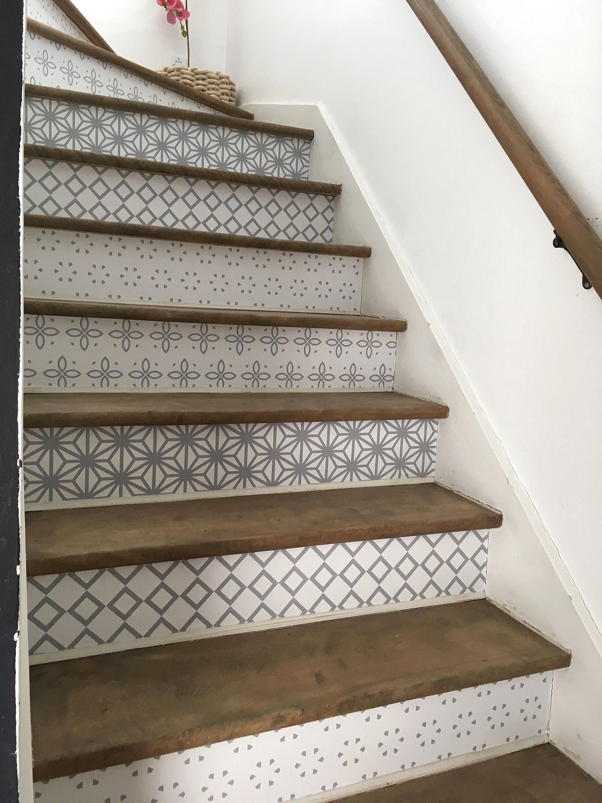 Vinyle Adhésif Pour Sol ensemble de vinyle autocollant pour contremarches | escalier
