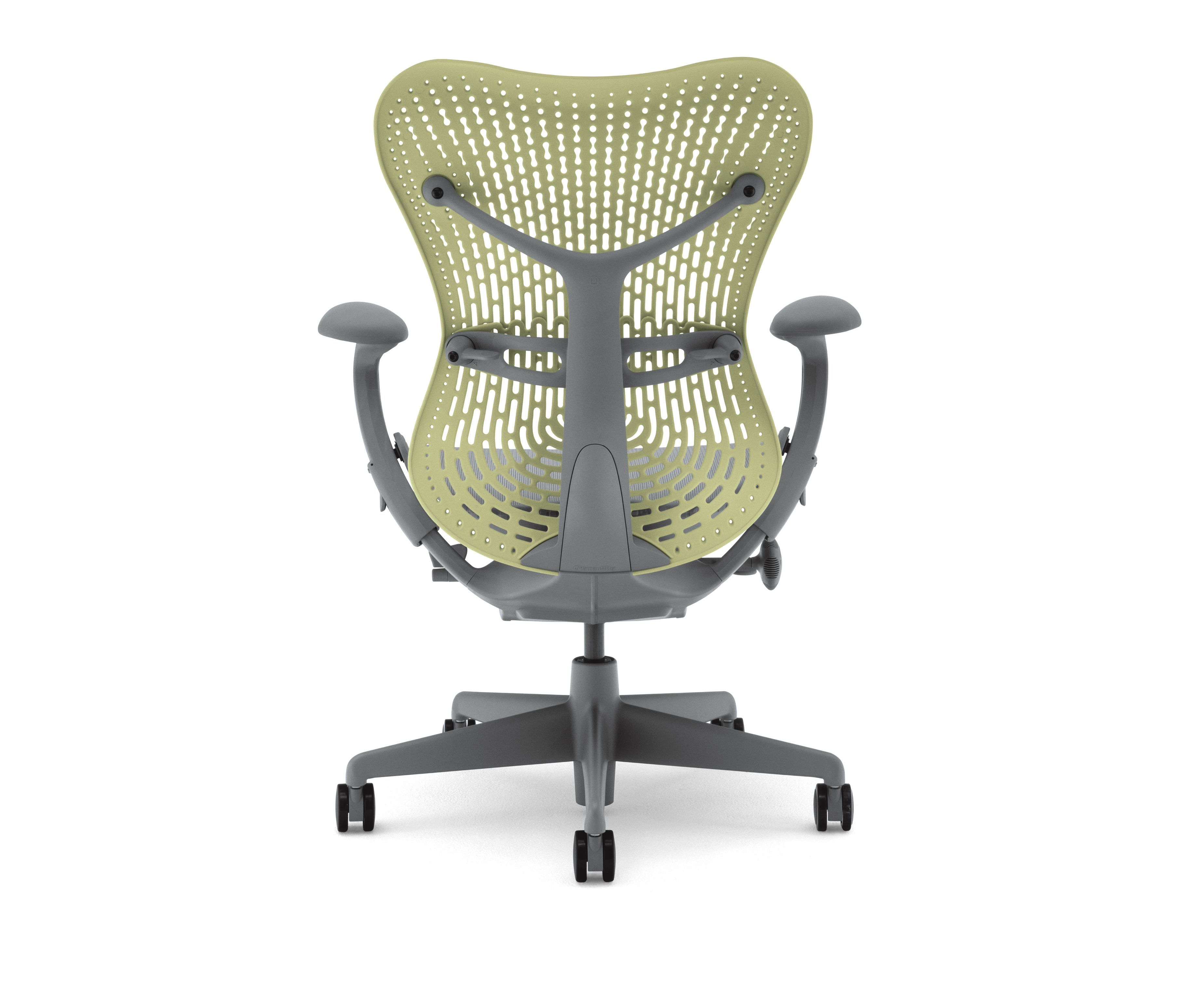 Mirra 2 chair contains up to 46% recycled content 21% post