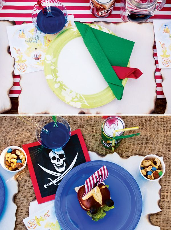 Magical Peter Pan Party {4th Birthday} Peter Pan Hat Napkin