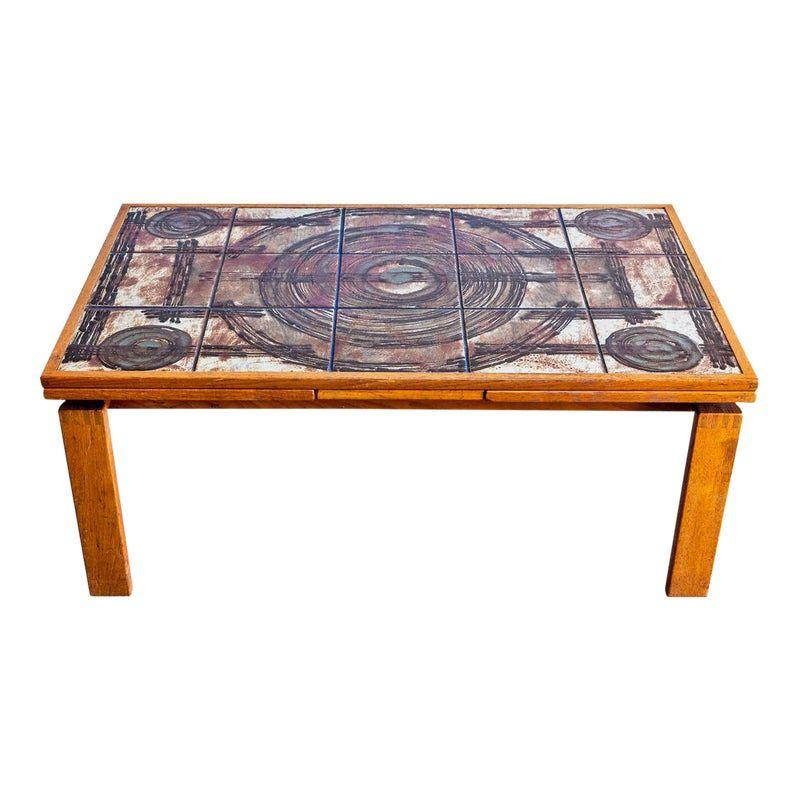 1970s Danish Modern Ox Art Coffee Table Danish Modern Mid Century Modern Furniture Tile Art