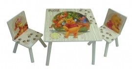 Brilliant Disney Winnie The Pooh Table 2 Chairs Adventure Winnie Andrewgaddart Wooden Chair Designs For Living Room Andrewgaddartcom