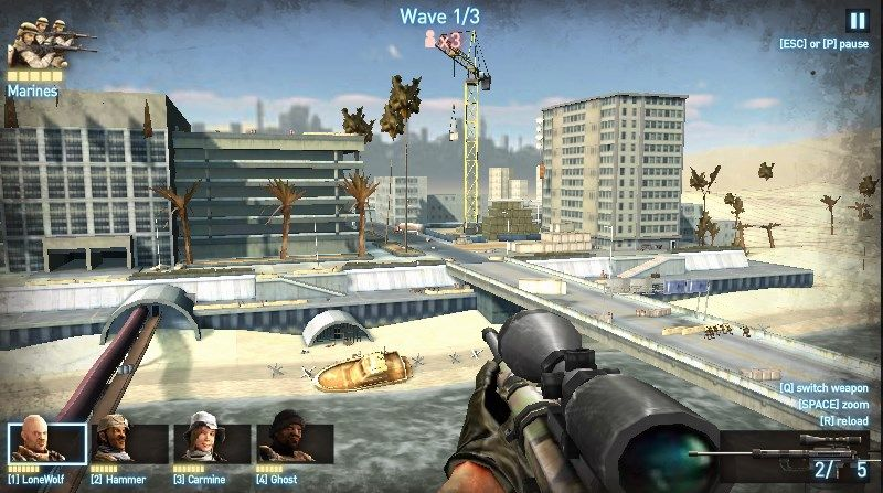 Sniper Team 2 - First person shooter action game in Flash 3D