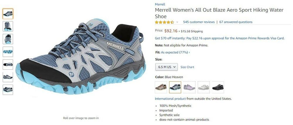 merrell size 6 womens white