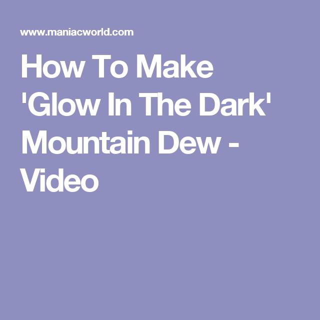 Beaa Da Fe A F Bfe B on Mountain Dew Glow Bottle