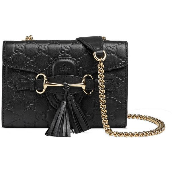f07b99102d1bd Gucci Emily Mini Guccissima Leather Shoulder Bag found on Polyvore  featuring polyvore