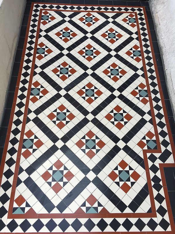 London Mosaic Www Londonmosaic Com We Are Specialists In The Design And Supply Of Victorian Floor Tiles With Images Porch Tile Victorian Hallway Tiles Hallway Flooring