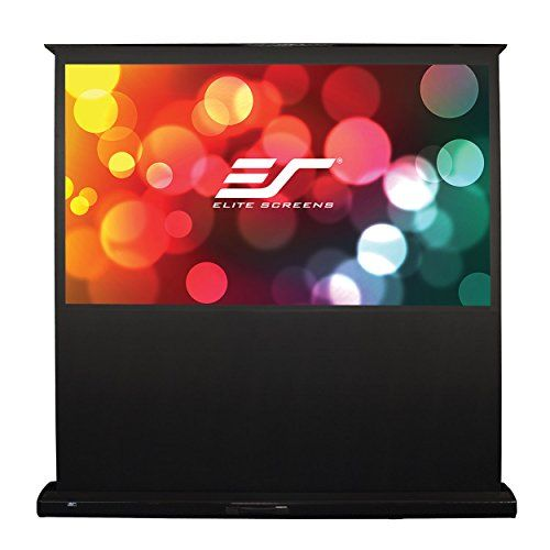 Elite Screens Feb106h Home Floor Rising Electric Projection Screen 106 Inch 16 9 Ar Projection Screen Projection Screens Projector Screen