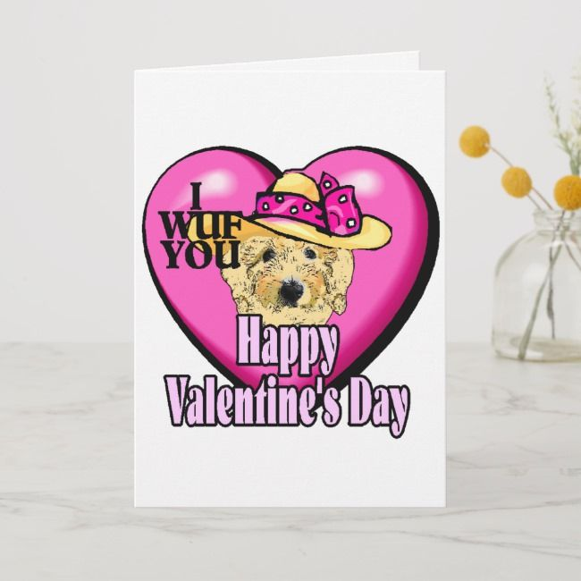 Goldendoodle Valentines Day Holiday Card |  Goldendoodle Valentines Day Holiday Card ,