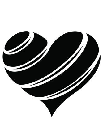 Black And White Heart Tattoo : black, white, heart, tattoo, Girly, Tattoos, White, Heart, Tattoos,, Black