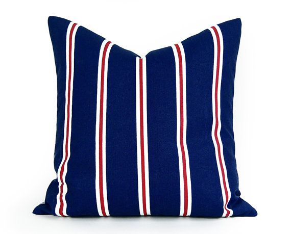 Red White Blue Patio Pillows Blue Striped Patio Pillow Covers
