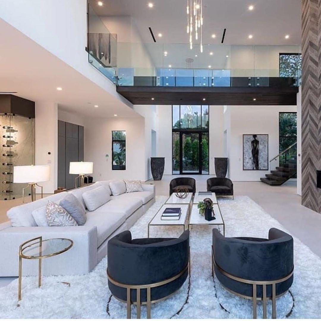 Sala Grande Como Decorar E 60 Lindas Inspiracoes Casas Modernas Interiores Diseno Interiores Casas Diseno Casas Modernas