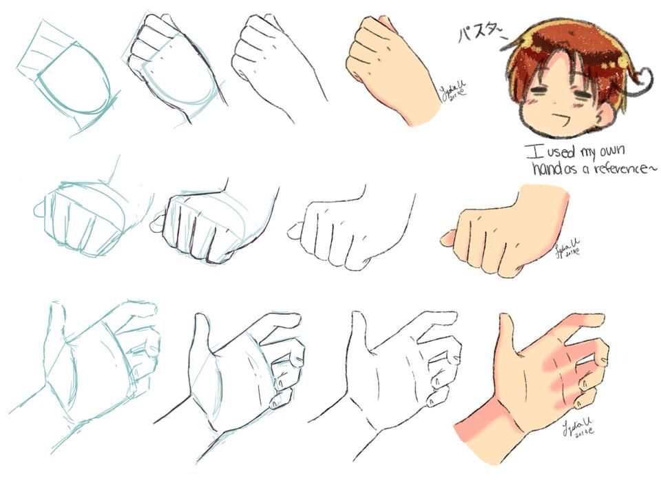 Hand Poses And Colouring Drawing Anime Hands Drawing Tutorial Anime Hands