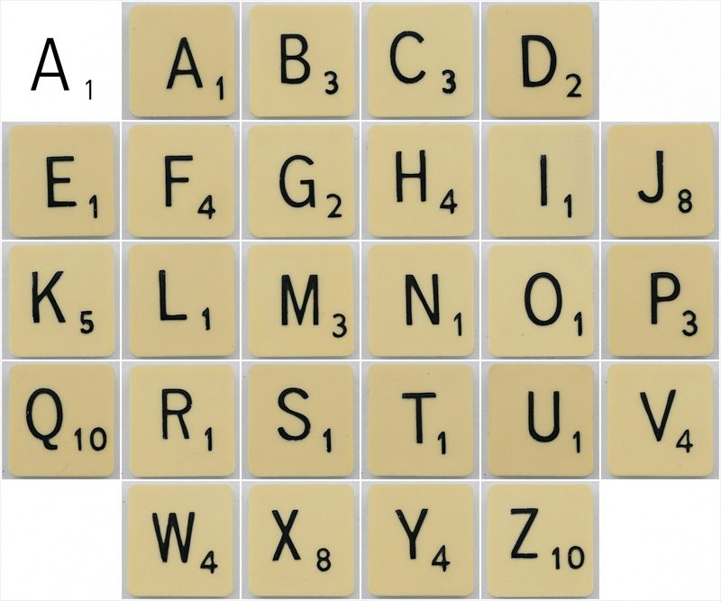 what font does scrabble use on their tiles typophile. Black Bedroom Furniture Sets. Home Design Ideas
