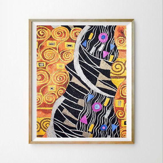 Klimt Colorful Wall Art Print Klimt Art Printable Colorful Art Decor Colorful Instant Download Famous Art Print Klimt Art Art Prints Art