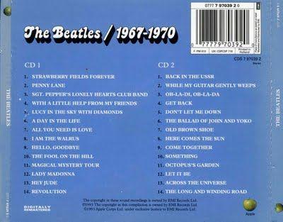 The Beatles 1967 1970 Blue Album Record Cover Album