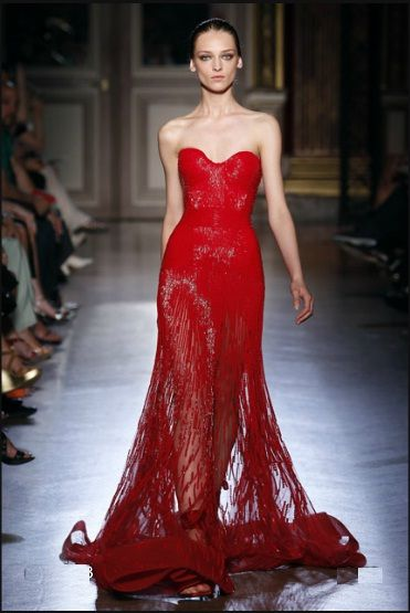 Dior red lace dress
