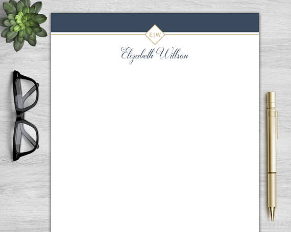 Letterhead Template for Word Personalized Letterhead DIY Custom
