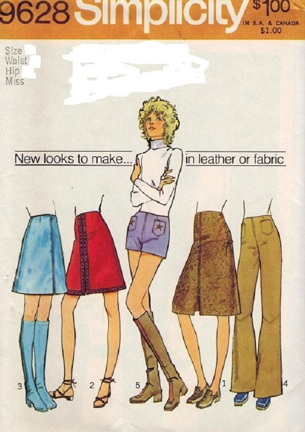 Simplicity 9628 Misses Skirt, Shorts And Flared Pants Pattern, Size ...