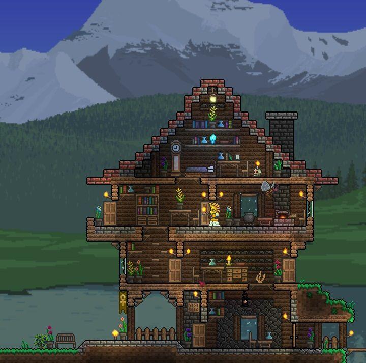 Guide's House | Terraria house design, Terraria house ideas ... on