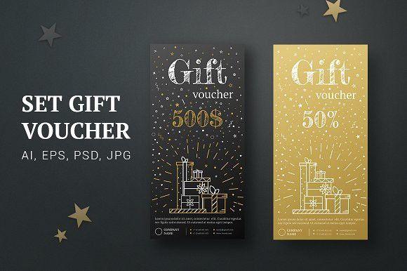 Gift card gold, black. Certificate | Certificate, Gift voucher ...