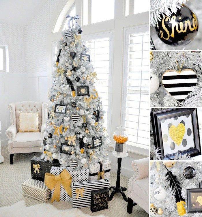 44 Arvores De Natal Com Decoracoes Improvaveis Natal Dourado