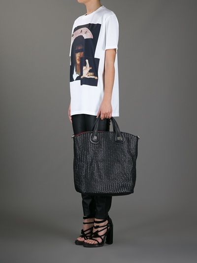 GIVENCHY - tall Nightingale woven tote