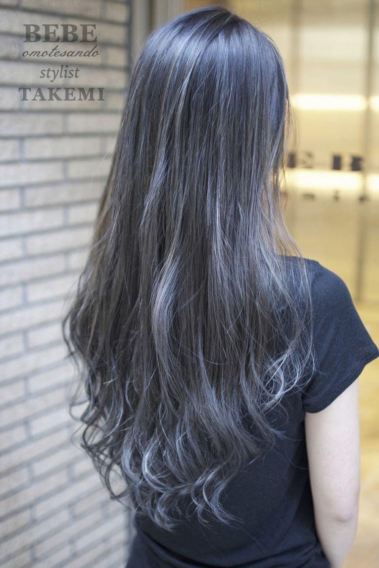 {title}(画像あり) グレー ヘアカラー, 髪色 グラデーション, ブルージュ ヘアカラー
