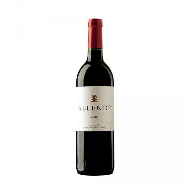 Vino Tinto Allende 2006    Este clásico de Rioja es un vino sabroso y potente, lo que lo convierte en un compañero ideal de jamones y embutidos ibéricos, y de platos como lechal o cordero al horno.    Si no lo habéis probado, no dejéis de hacerlo, y para los que ya lo conocéis seguro que ya habéis repetido más de una vez.    Os aconsejamos tomarlo en una copa Tempranillo para apreciar todos los matices de esta variedad de uva típica de la zona de Rioja.