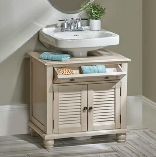 20 Clever Pedestal Sink Storage Design Ideas With Images