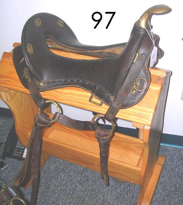 97: us army 1913 mcclellan packer mule saddle rare   Camping