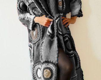 Moda Extra largo talla grande abrigo Cardigan suéter por subrosa123