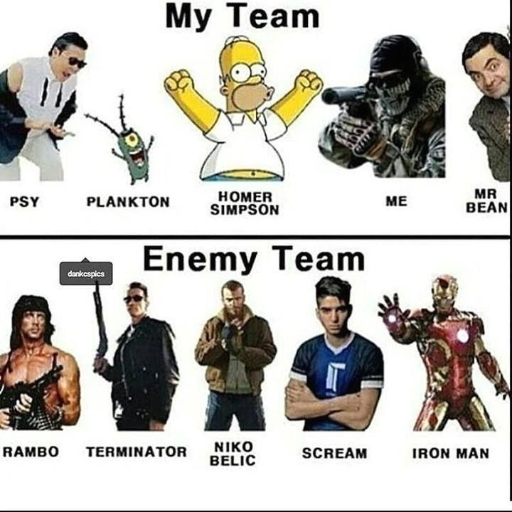 I have to agree I always get stick with the lame team and I always