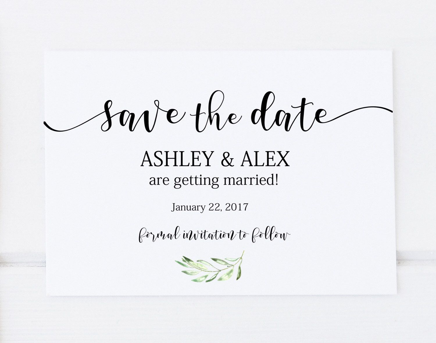 Save the Date Template, Printable Save the Date, Save the ...